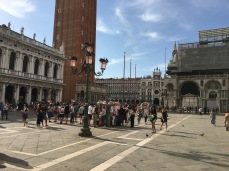 Venice Italy : St Marks Square crowd