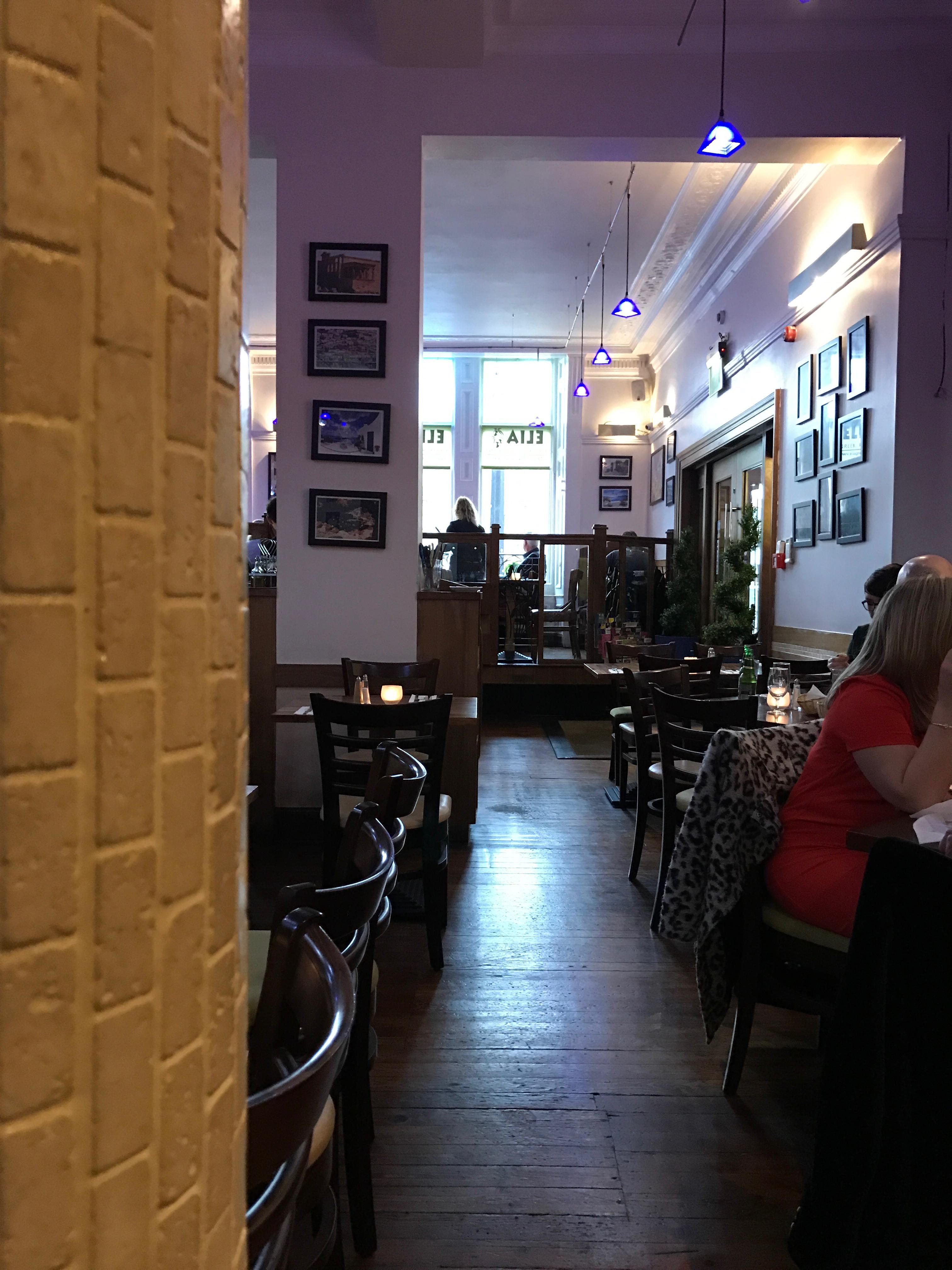 Elia Restaurant Glasgow Menu