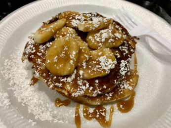 Taste Buchanan Event : Pancakes with banana and Caramel sauce