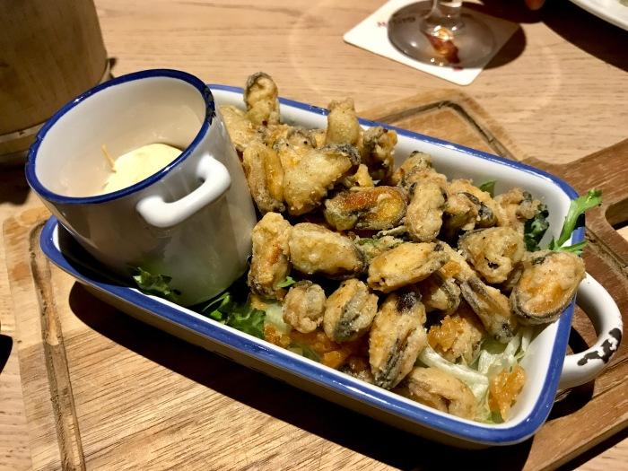 Innis & Gunn Beer Kitchen : Popcorn Mussels