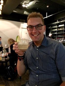 Epoch Glasgow : Kris enjoying a cocktail