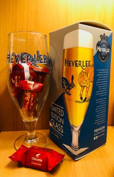 Heverlee Beer Limited Edition Glass with Chocolates
